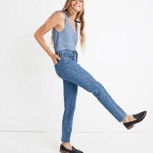 Madewell Slim Straight Jeans: Navy Dot Edition